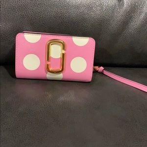 Marc Jacobs Pink Polka Dot Wallet NWT Primrose
